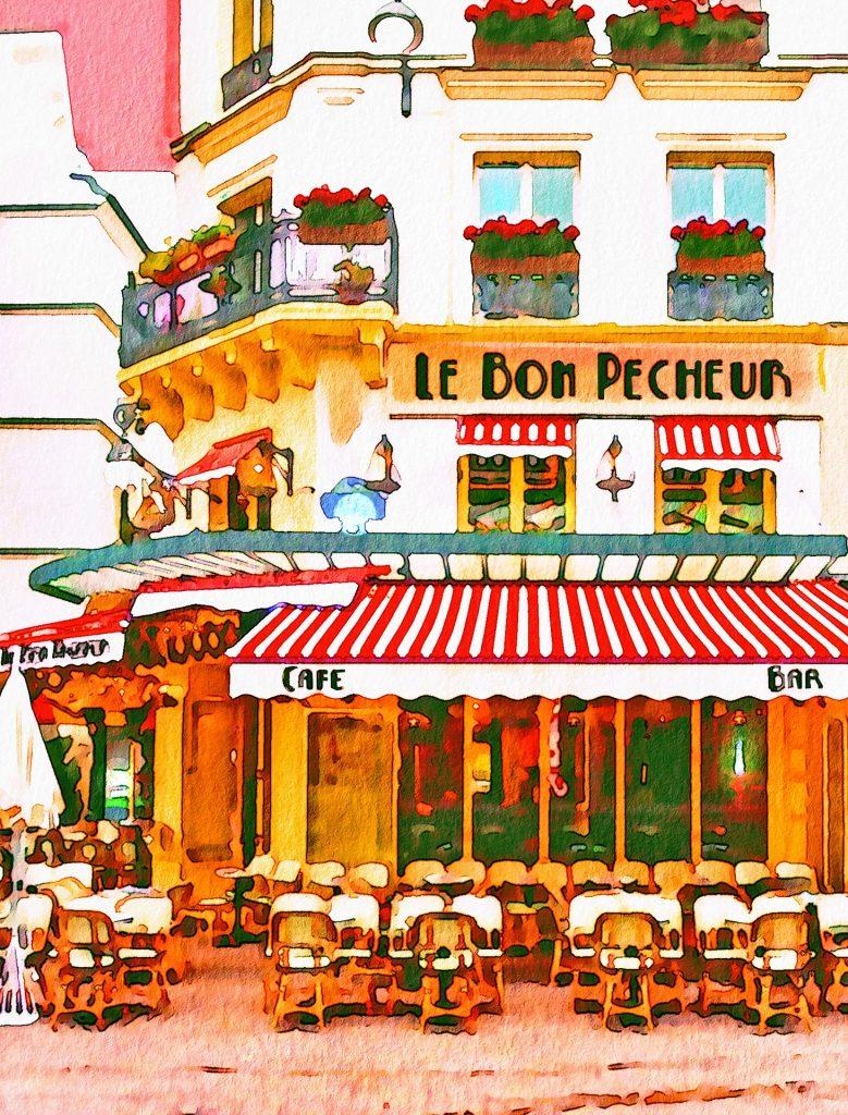 Bistro parisino. Imagen de AnnaliseArt para Pixabay