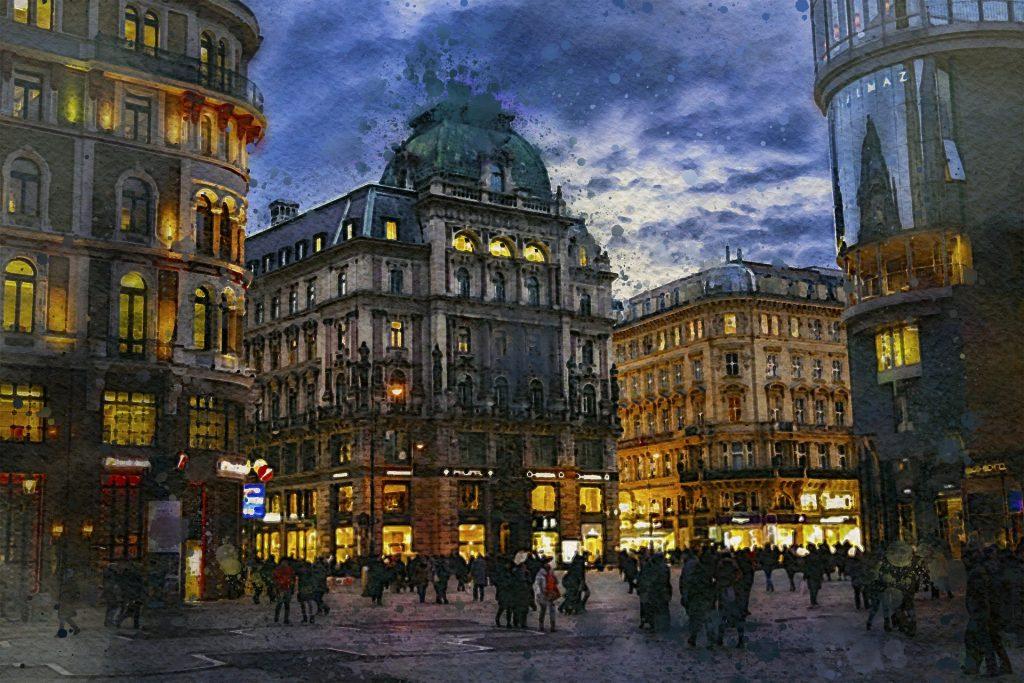 La ciudad de Viena, cuna originaria del croissant. Imagen de de ArtTower para Pixabay