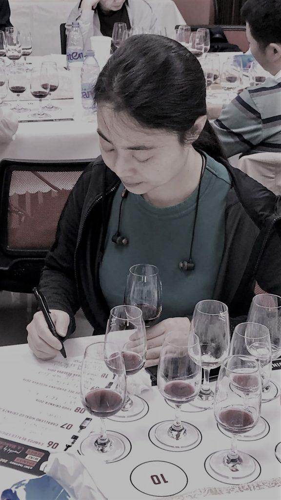 Uno de los seminarios virutales de cata en Shenzhen