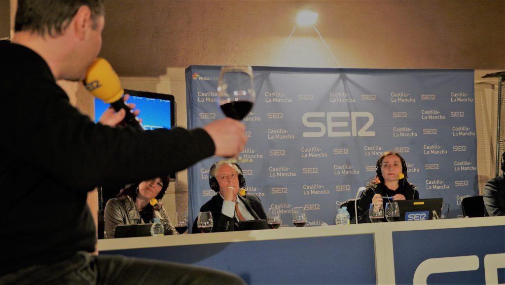 Cata de vinos en el programa de Pepa Bueno
