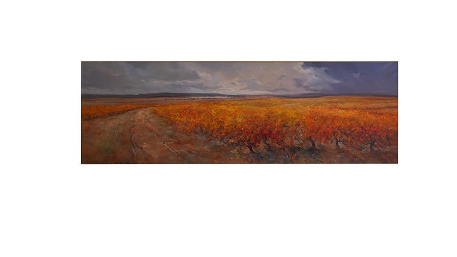 Después de la tormenta vemos un paisaje en calma. Los colores manchegos típicos destacan en la panorámica.