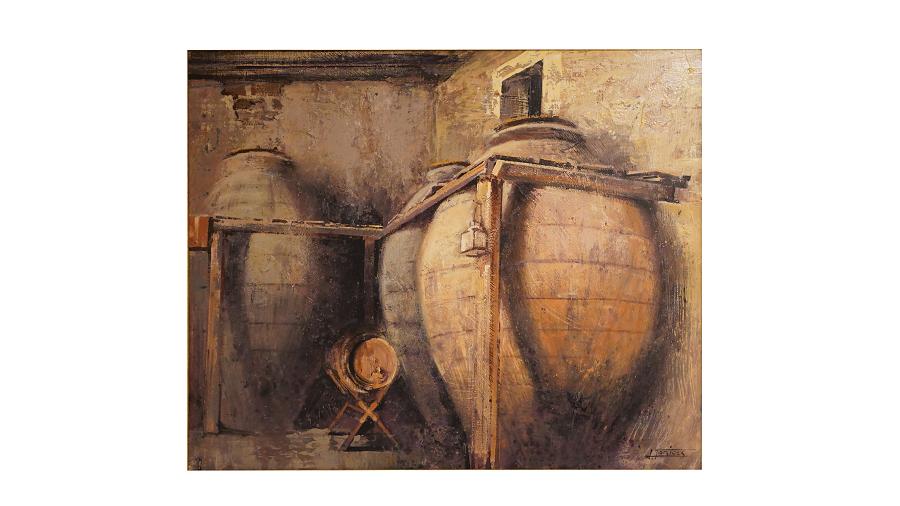 Antiguo cocedero. Estancia esencial para la elaboración tradicional del vino.