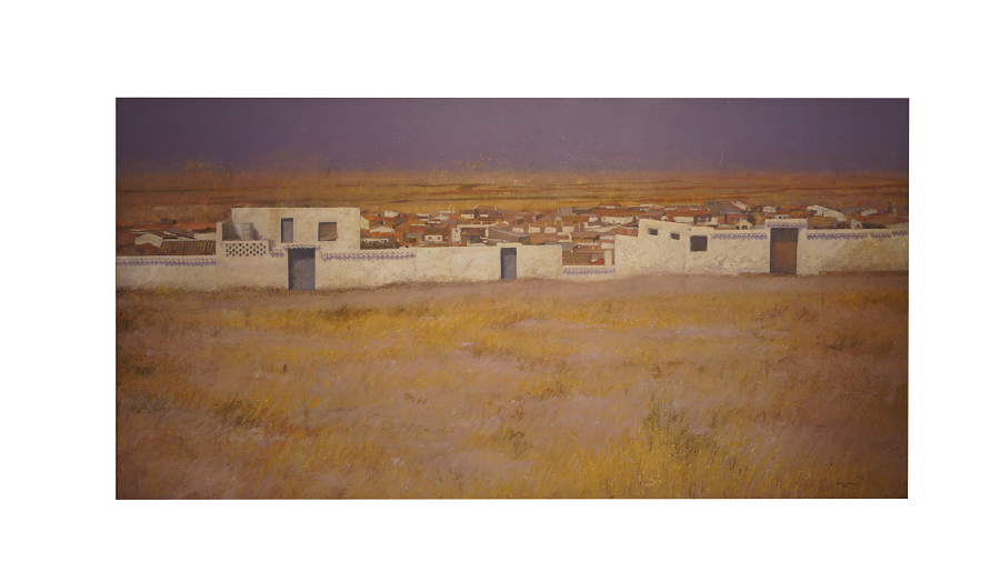 Panorámica del pueblo de Campo de Criptana. Podemos ver las características casas blancas que le aportan personalidad al pueblo y lo hacen único.