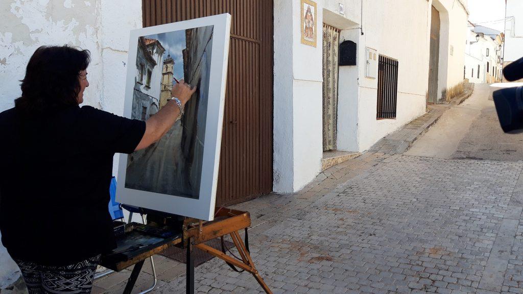 Pintora concursante el pasado 2019 en El Toboso