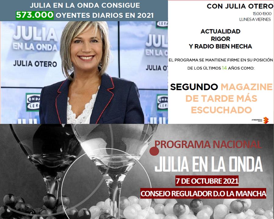 'Julia en la Onda', desde la Sede del Consejo Regulador, regresa a la III Fiesta de la Vendimia en La Mancha