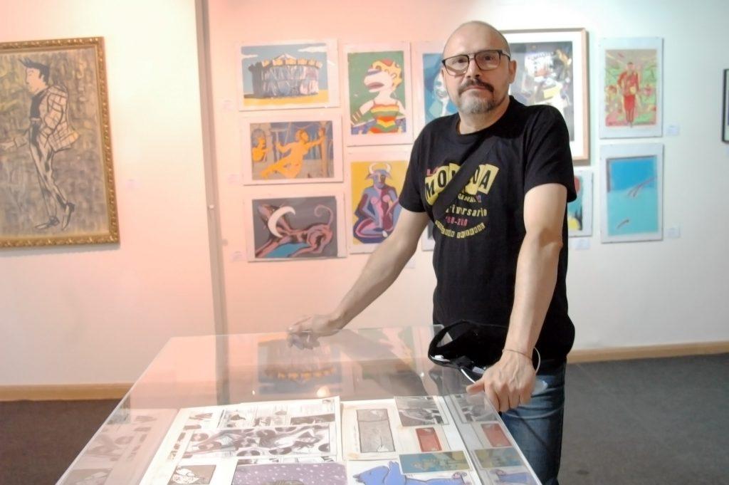 Kiko Feria, uno de los artistas expositores