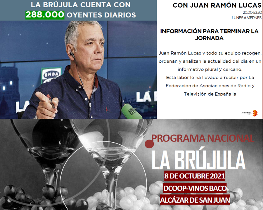 'La Brújula', de Juan Ramón Lucas, desde la sede de DCOOP Baco