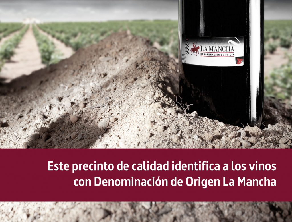 Sello de calidad vinos con Denominación de Origen La Mancha